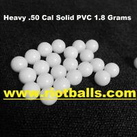 NEW 100 X Less Lethal .50 Cal 1.8 Grams Solid PVC Jaw Breaker High Impact Balls