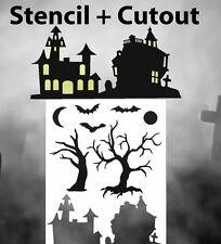 airbrush stencil Haunted House Trees Templates Stencils Spray Vision