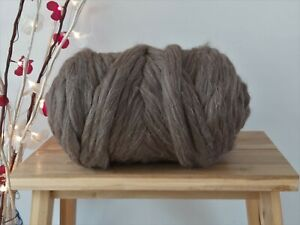 Natural Brown* Wool Tops Dry and Wet Felting Giant  Arm Knitting 100 - 4kg
