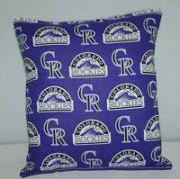 Rockies Pillow Colorado Rockies  MLB Pillow Baseball Pillow HANDMADE in USA