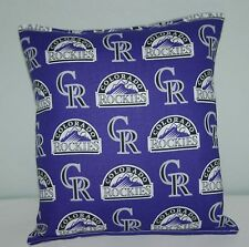Rockies Pillow Colorado Rockies  MLB Pillow Baseball Pillow HANDMADE in USA