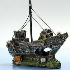 2017 New Brand Aquarium Decoration Pirate Ship Boat For fish Tank Resin Ornament