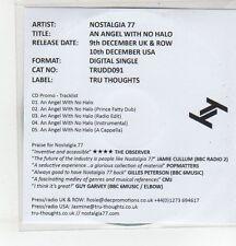(ER884) Nostalgia 77, An Angel With No Halo - 2013 DJ CD