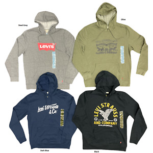 Levi's Men's Cotton Blend Classic Logo Pullover Relaxed Hoodie Sweatshirt