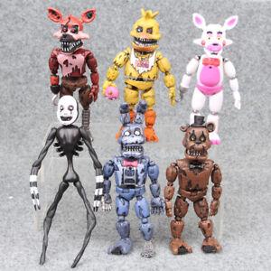 "6Pcs FNAF Five Nights At Freddy's Plush Bear 6"" Action Figure Model Kids Toys"