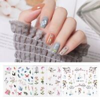 Art Sheets Flower 3D Nail Stickers Manicure Decoration Decals 1 Tips Transfer *5
