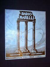 Pubblicità dei 1932 Radiomarelli S.A. via Amedei, 8 Milano