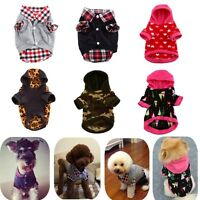 Pet Dog Fashion Hoodie Puppy Warm Clothes Sweater Costume Jacket Coat Apparel