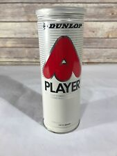 Dunlop Player Empty Tennis Ball Can Metal Vintage Prop