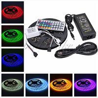 5M SMD RGB 5050 Waterproof LED Strip light 300 & 44 Key IR Remote &12V 5A Power