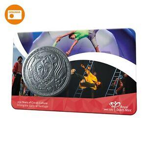 250 jaar circuscultuur penning in coincard 250 years of circus culture token BU