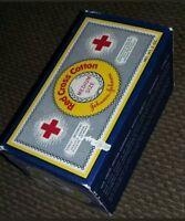 UNOPENED Vintage Toiletry Box Red Cross Medium Size Cotton Balls Johnson Johnson