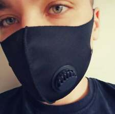 Face Mask Reusable and Washable with One Way Valve Black Only