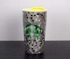 Starbucks Rodarte Ceramic Pixel Tumbler Travel Mug Lid 12 oz Cup 2012 Limited