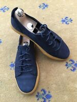 Gucci Mens Shoes Blue Leather Trainers Sneakers UK 6 US 7 EU 40 Crest
