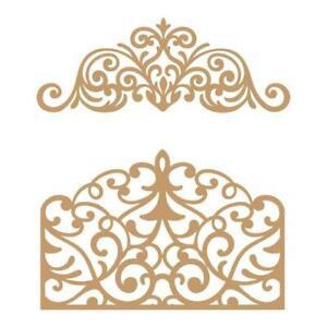 Prima Marketing Laser Cut Chipboard - Flourish Gate 2pcs