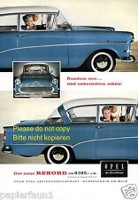 Opel Rekord Reklame von 1957 50er Jahre Werbung  ad +