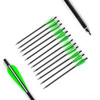 6pcs Hybrid Carbon Arrow 30inch PVC Feather SP340 Composite Bow Sport Archery