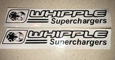 (2) WHIPPLE SUPERCHAGER Decal Sticker 47 Color Options