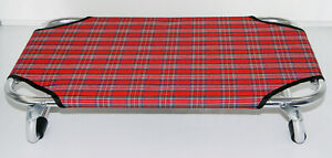 Elevated Pet Bed Dog Cat Portable Raised Indoor Outdoor Camp Cot Red 70cm