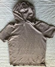Topman Men's Short Sleeve Hoodie Short Sleeve Sweater Cutouts Large L
