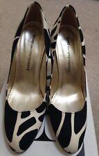 Brand New Diane von Furstenberg DVF Black & Cream With Silver Heel UK4 BNIB £395