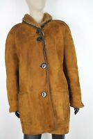 SHEARLING MONTONE SHEEPSKIN Cappotto Giubbotto Jacket  Tg 44 Donna Woman C