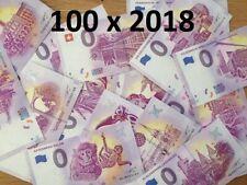 Lot de 100 Billets Euros Schein Souvenir Touristique 2018 Tous pays
