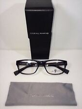 New 7 Seven For All Mankind 712  SMK Unisex Smoke Eyeglasses 53-19-143