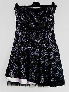 Gorgeous Black Lace Prom Party Dress from River Island - Size 12 - Worn Once!