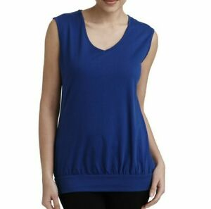 LADIES WORKOUT VEST TOP  Figleaves Active BLUE NEW
