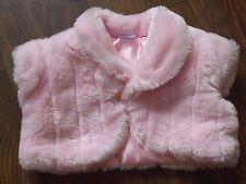 Età 12 - 18 12-18 mesi rosa per neonate manica ad aletta Bolero INVERNALI IN PELLICCIA SINTETICA