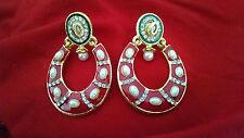 Indian Handmade ethnic Elegant Double side Use Pearl Ethnic Bridal wear Earrings