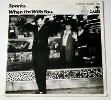 """The Sparks Giorgio Moroder / When I'm With You 7"""" 1980 Excellent picture sleeve"""