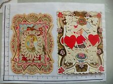 4 Vintage Valentine'S Day Cards; Usa; Dye Cut Embossed Pierced; All Card 1930