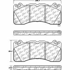 Centric Parts 104.17920 Front Super Premium Semi Metallic Brake Pads