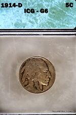 """1914-D Icg G06 """"Better Date"""" Buffalo Nickel!"""