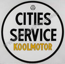 "CITIES SERVICE KOOLMOTOR 12"" VINYL GAS & OIL PUMP DECAL DC-142"