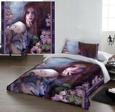 MIDNIGHT ROSE - Duvet Cover Set for DOUBLE BED artwork by BENTE SCHLICK