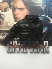 Hot Toys Winter Soldier Civil War MMS351 Black Leather Jacket loose 1/6th scale