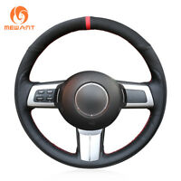 DIY Customize Black Suede Leather Steering Wheel Cover for Mazda MX-5 RX-8 CX-7
