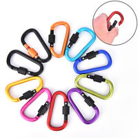 Outdoor Aluminum Alloy Carabiner D-Ring Key Chain Clip Camping Keyring Hook  -