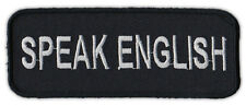 Motorcycle Jacket Patch - Speak English - Anti Immigration Immigrants