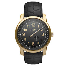 PREMIUM One Hand Luch Mechanical Automatic Wound Wristwatch. Black. 77497580