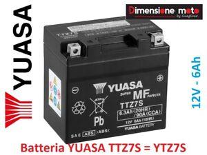 Batteria YUASA TTZ7S = YTZ7S 12V-6Ah per YAMAHA WR 450 F dal 2003 >2018