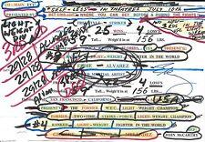 Eddie Alvarez Signed Bruce Buffer UFC 188 Fight Used Announce Card PSA/DNA COA