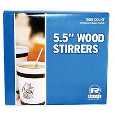"Royal Wood Wooden Coffee Stir Stirrers Sticks 5.5"" Woodgrain, 1000 Stirrers/Box"