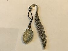 Leaf TG205 Fine English Pewter On A FEATHER Bookmark