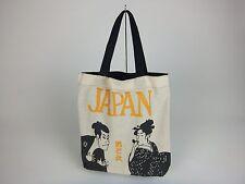 "Japan Tote Bag ""Ukiyoe"" ""Otoko to Onna""/Black/Men & Woman/Culture/Souvenir/New"