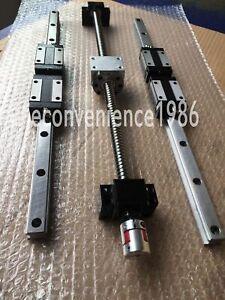 HSR25-300 to 800mm linear rail & RM2505--300 to 800mm Ballscrew k&BF20/BK20 Kit